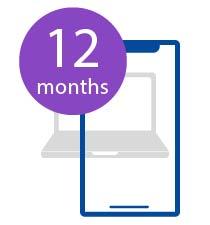 12 months Pro plus Standard Subscription