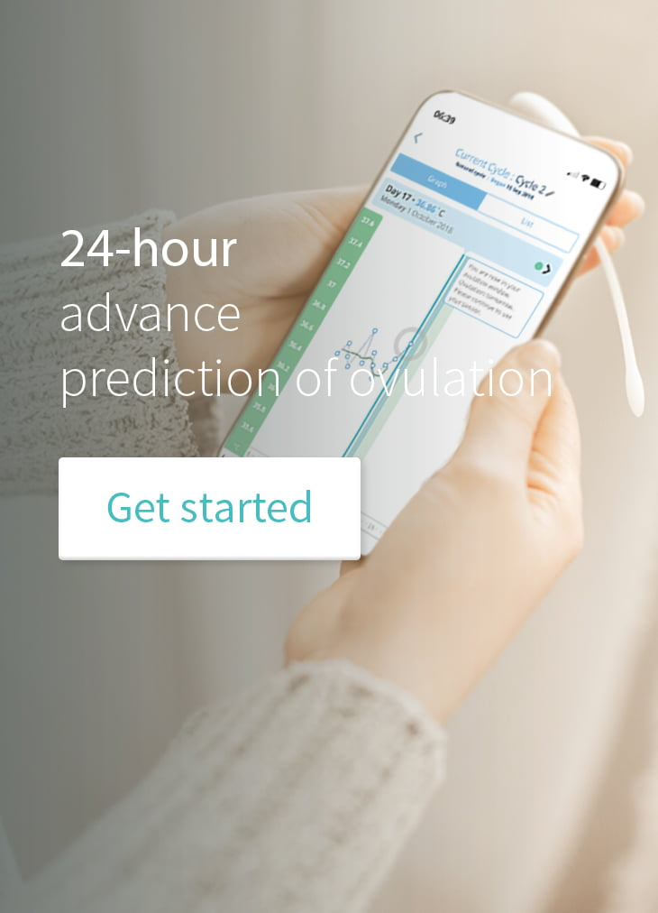 Predicts ovulation 24 hours in advance